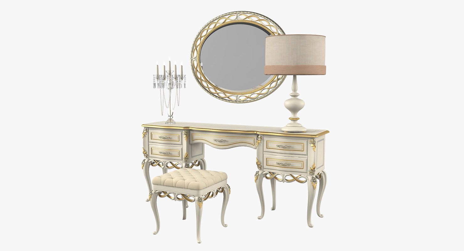 3D coco dressing table set