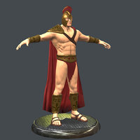 human male gladiator 3D model