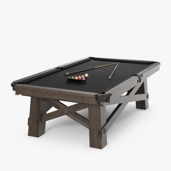 3D model loft pool table