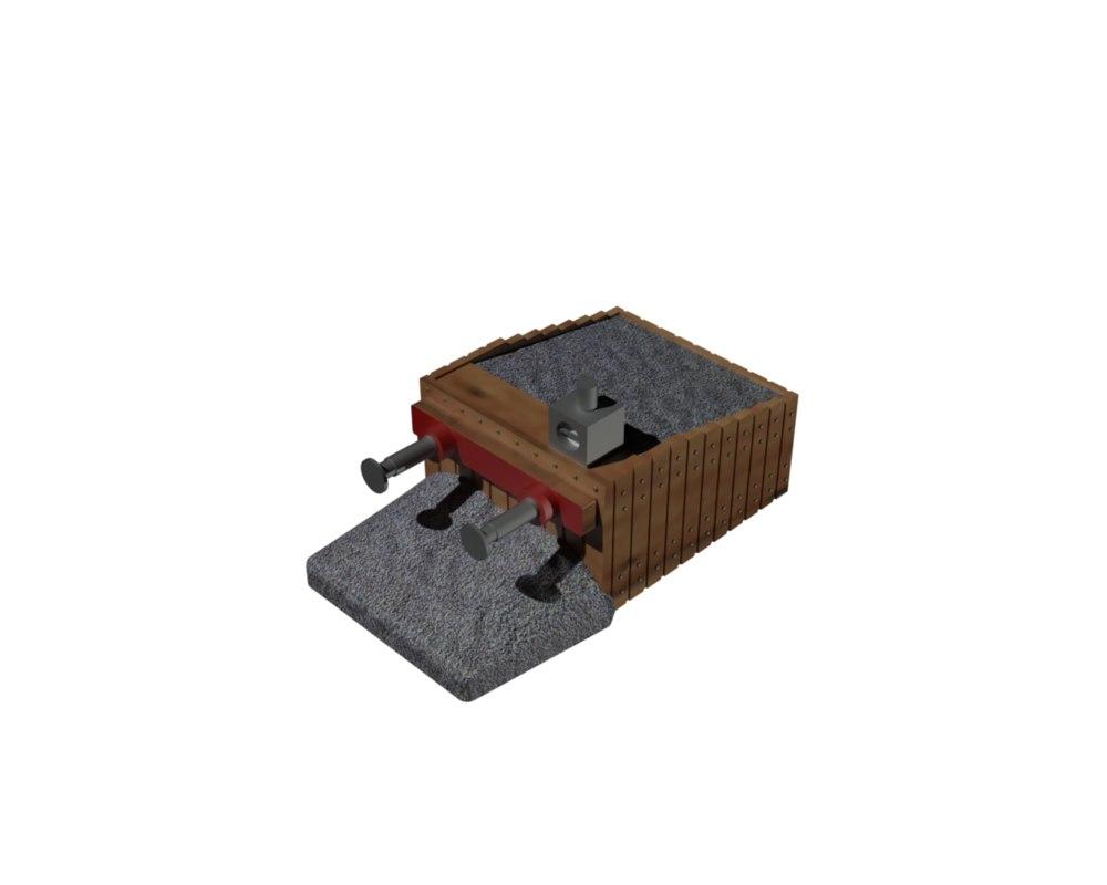 07950 buffer stop track model
