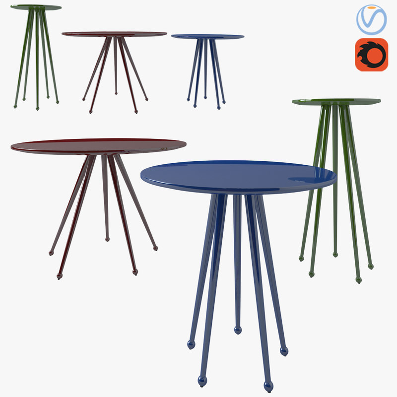 3D table alberta salotti - model