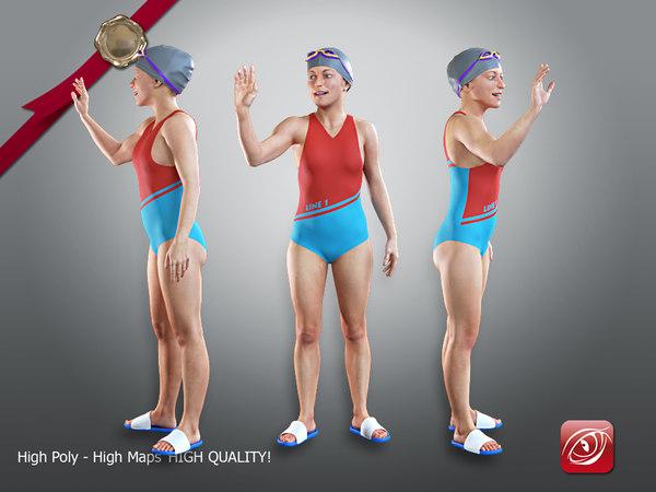 3D female swwimmingpool acc 2130