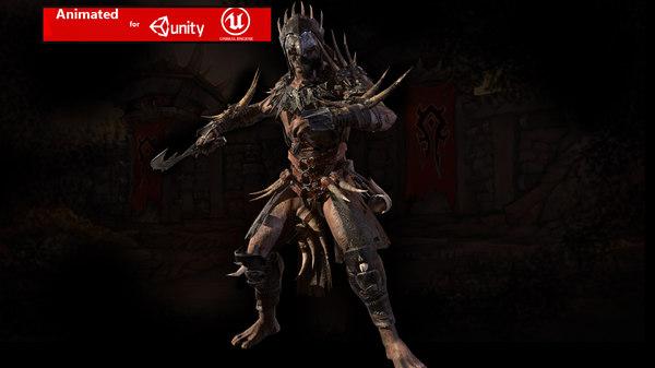 3D character berserker model