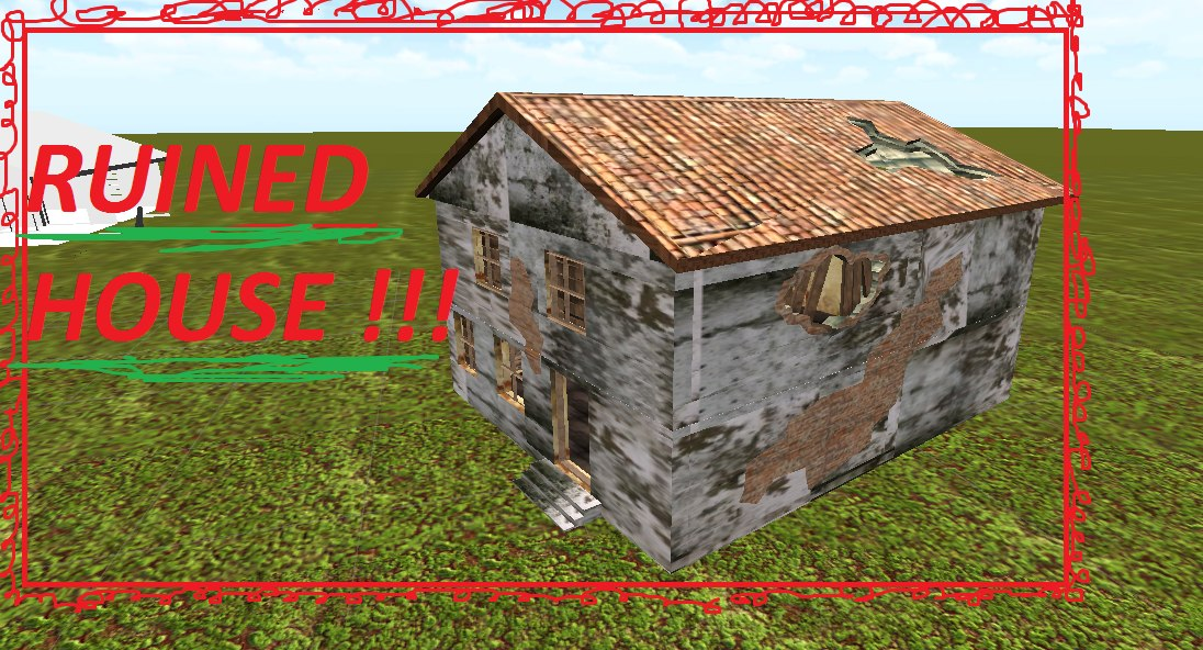 house ruined 3D model