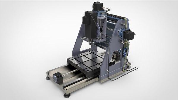 3D milling machine cnc model