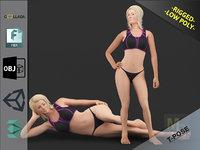 3D white woman