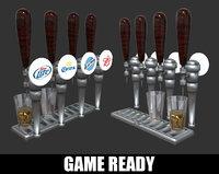 beer tap glass model