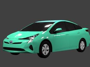 3D toyota prius 2016 car
