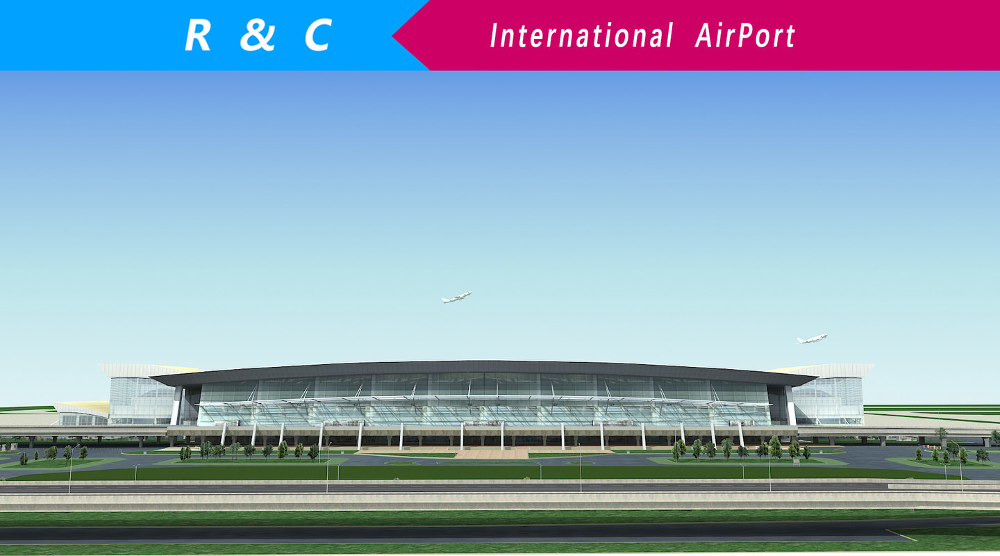 3D international airport