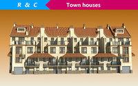 townhouse villa building 3D model
