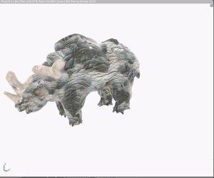 scupting blender uv 3D model