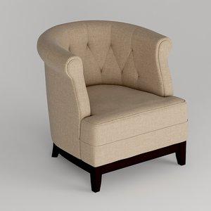 3D fabric arm chair