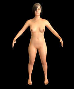 3D model pan asian female