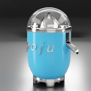 3D portable juicer model