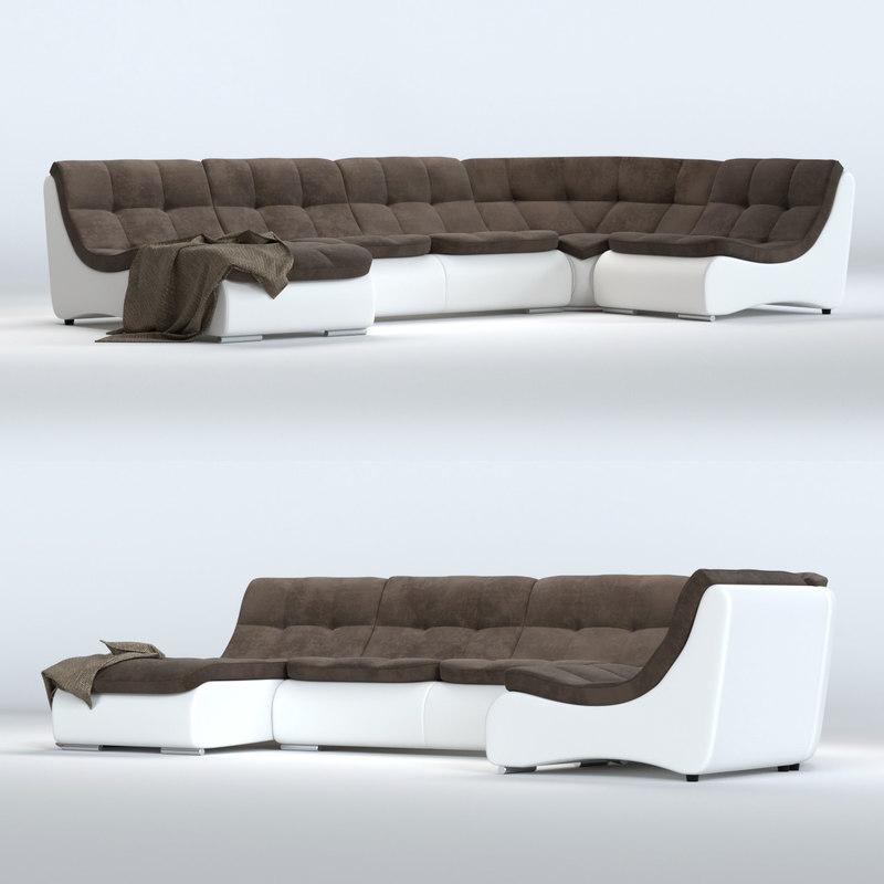 3D sofa monreal model