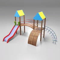 playground play children 3D model