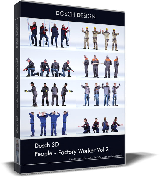 dosch people - factory 3D