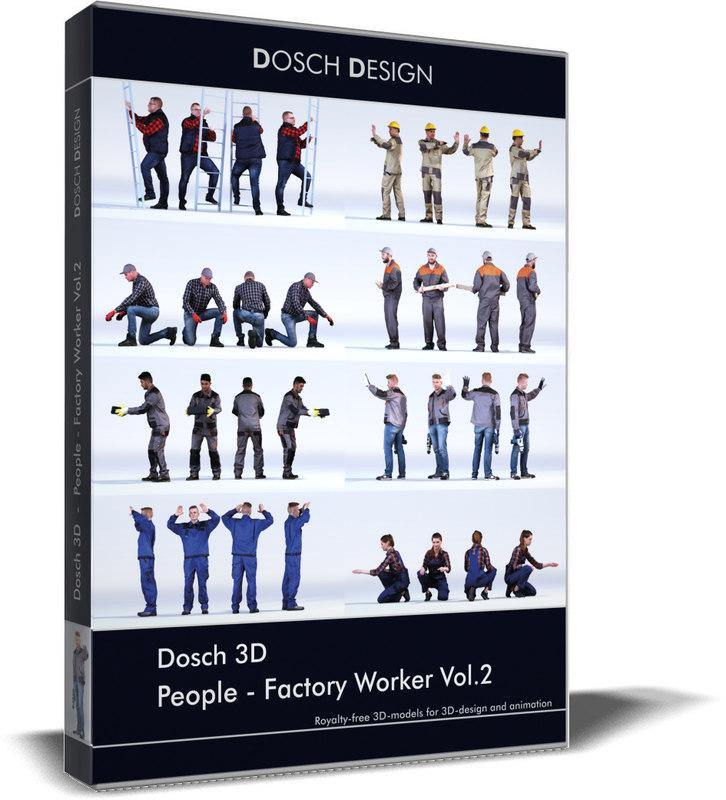 dosch people - factory 3D
