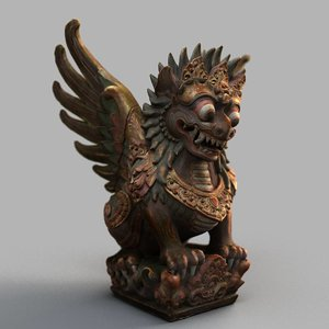 3D bali sculpture model