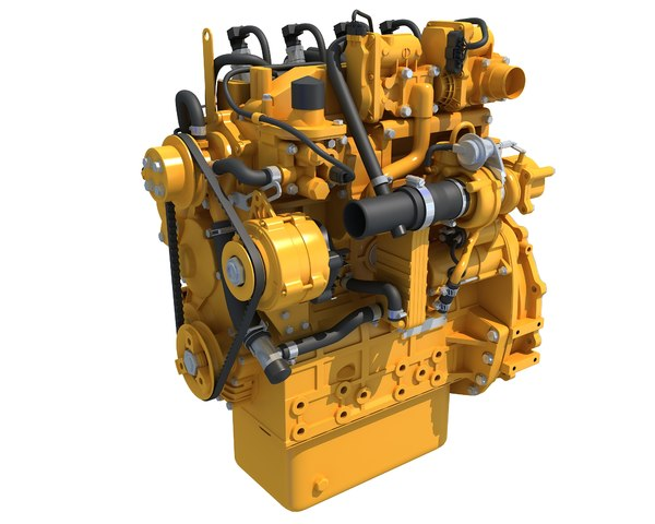 industrial diesel engine 3D model
