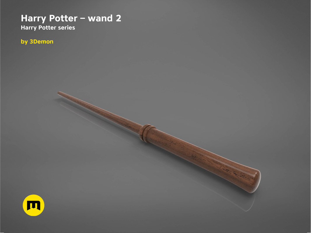 harry potter wand version 3D