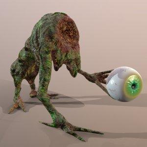 3D model creature monster