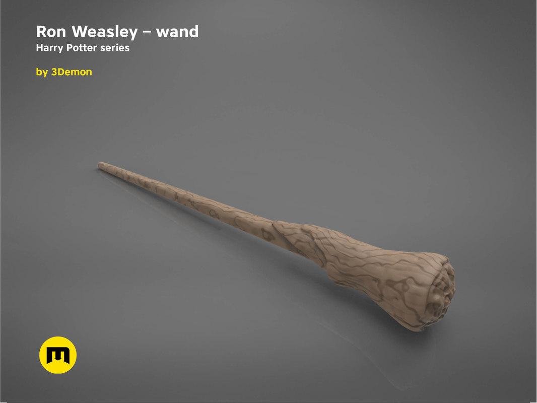 3D ron weasley wand - model