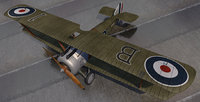 plane sopwith camel ww1 fighter 3D