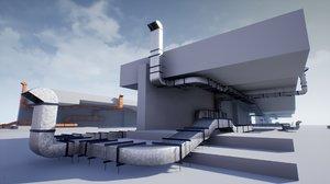 3D model pbr ventilation pack ue4