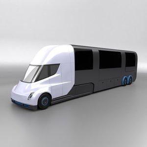tesla rv truck 3D