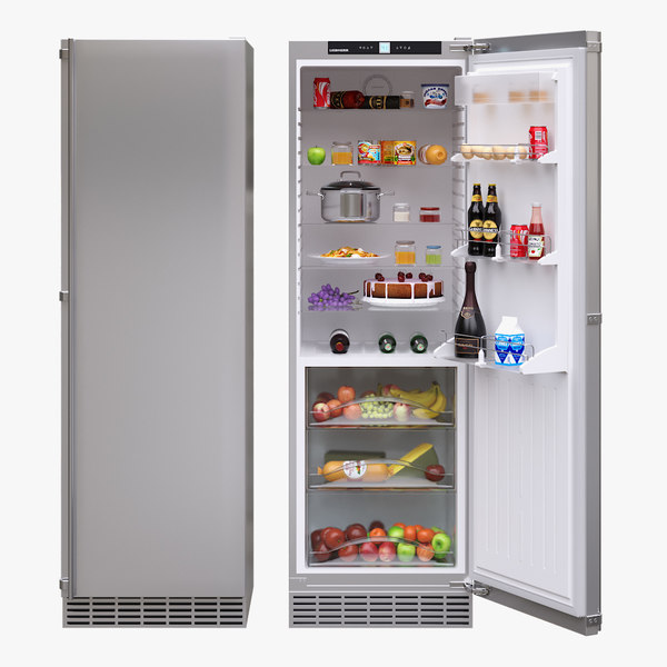 3D model appliance fridge liebherr