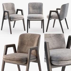 3D minotti lance chair