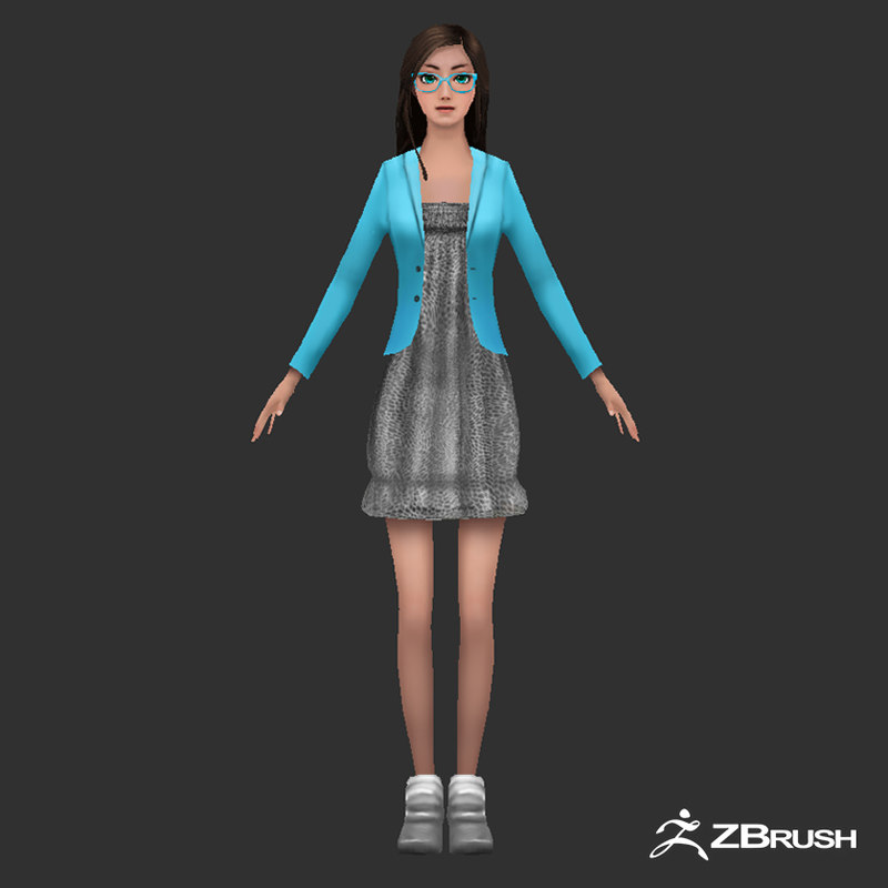 anime female character games model