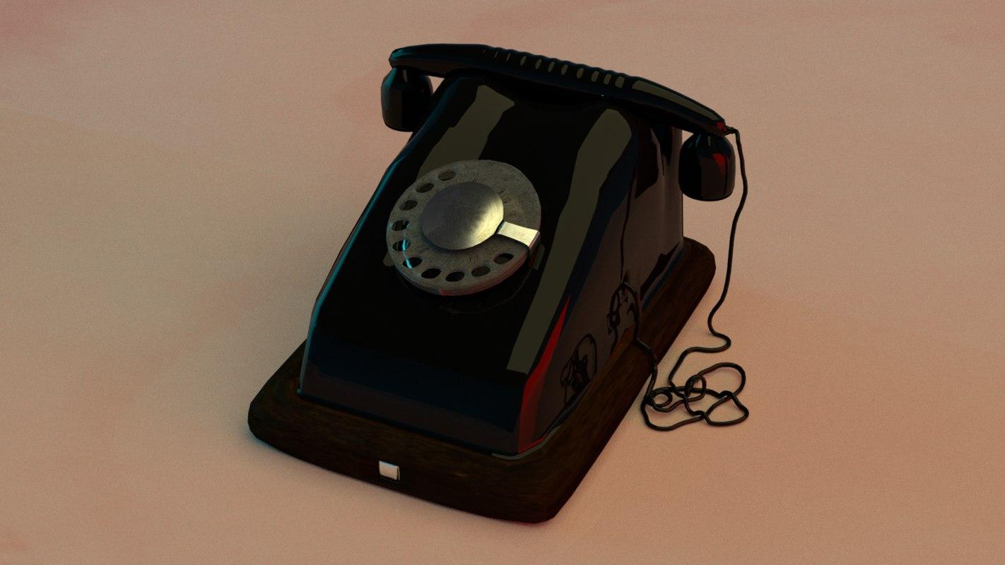 3D model old phone
