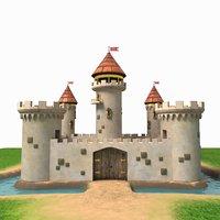 castle cartoon model