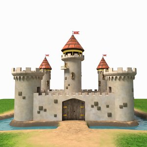 castle cartoon model