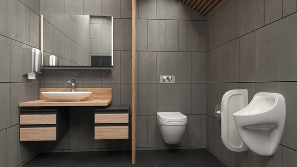 3D home toilet interior bathroom