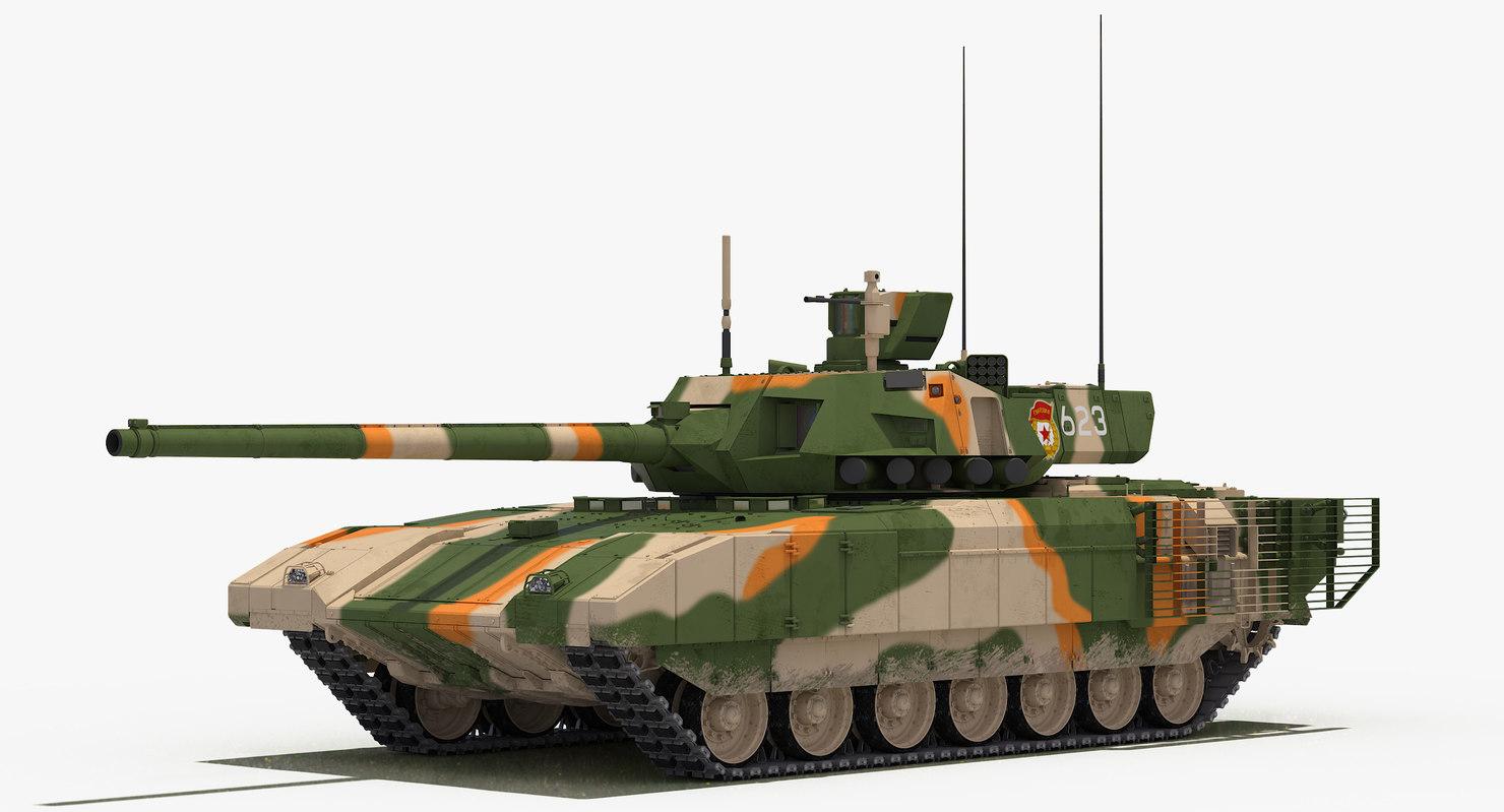 3D t-14 armata green-desert camo