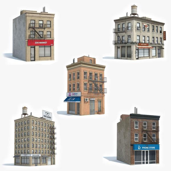 ready 5 apartment building 3D model