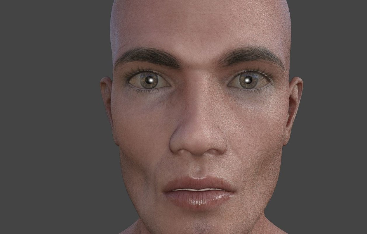 realistic male body characters 3D model