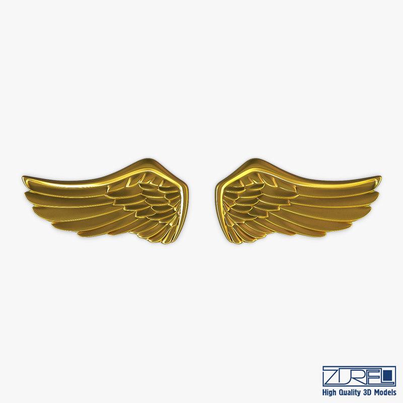 3D eagle wings gold v