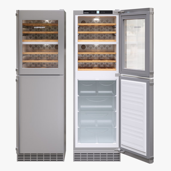 appliance fridge liebherr 3D model