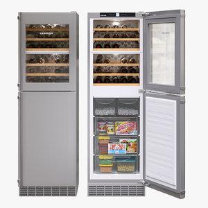 appliance fridge liebherr 3D