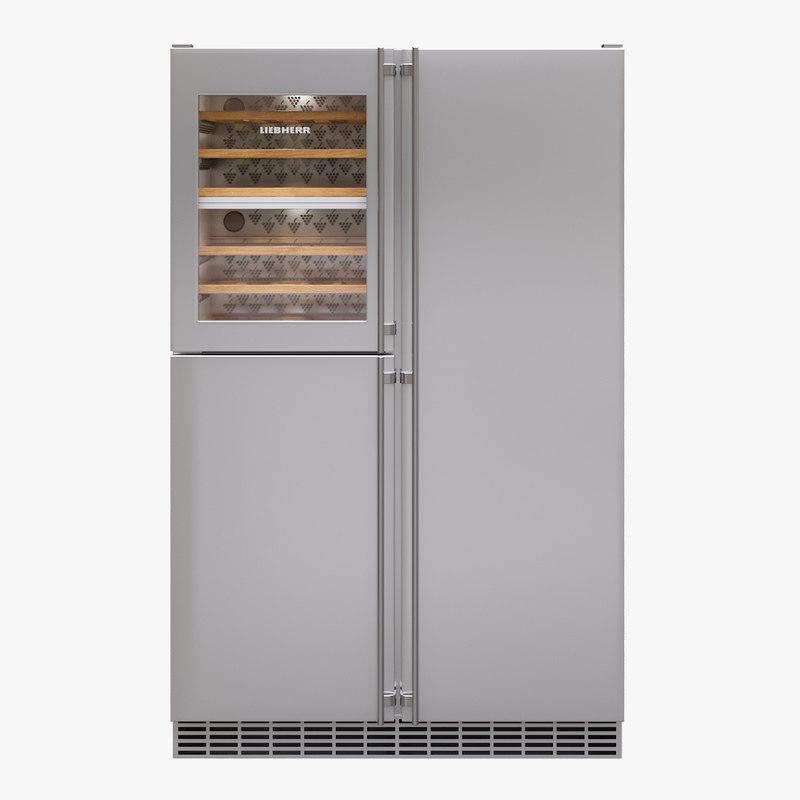 3D appliance fridge liebherr