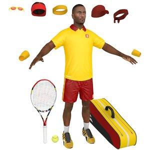 tennis player 3D