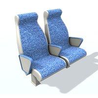 passenger seat 2 3D model