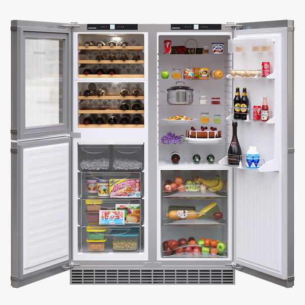 3D appliance fridge liebherr model