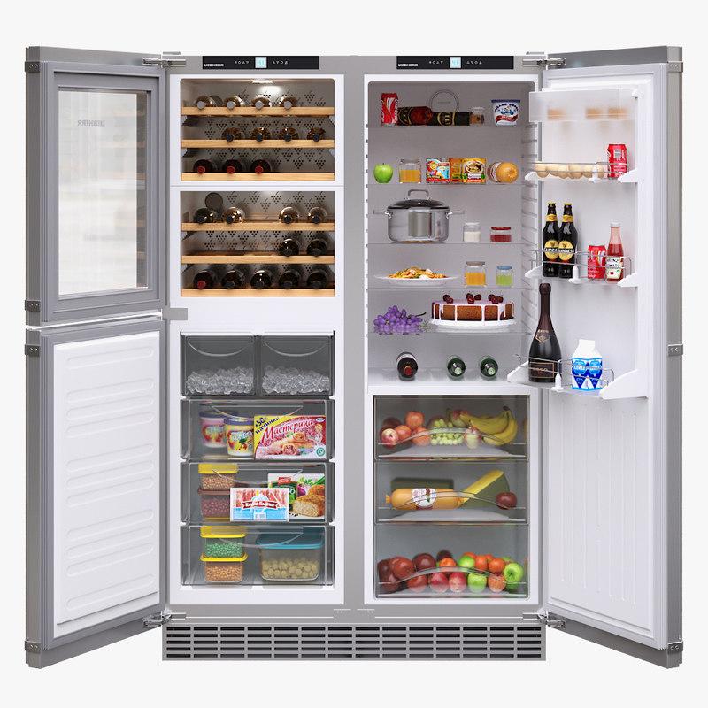 3D appliance fridge liebherr model
