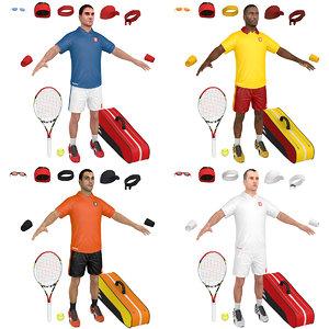 3D pack tennis player model