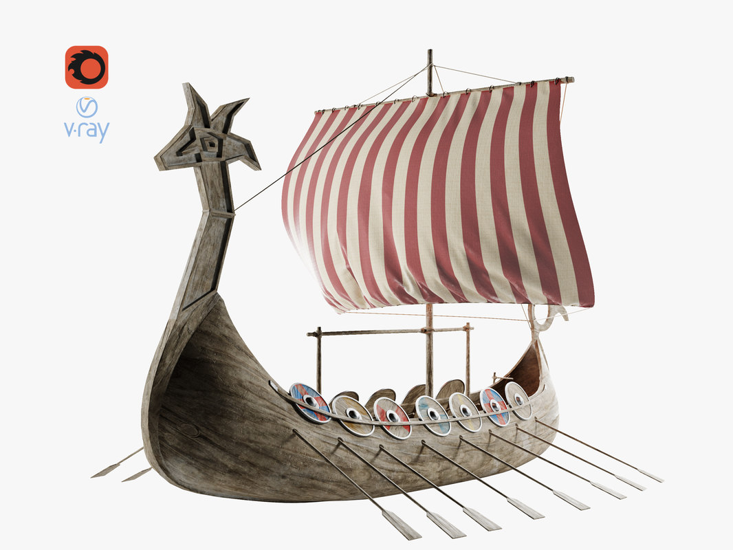 viking ship boat 3D model